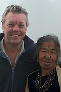 Apatani woman & Pete Oxford<br /> Apatani Tribe<br /> Ziro Valley, Lower Subansiri District, Arunachal Pradesh<br /> North East India