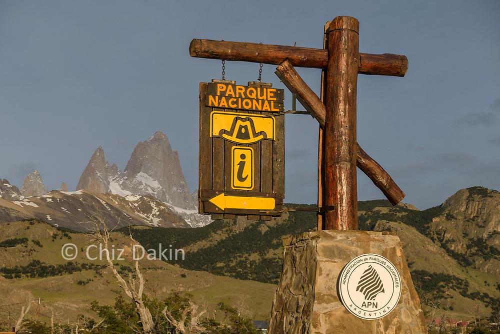 National Park sign, El Chalten