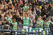 Tom Rogic holds the William Hill Scottish Cup aloft following their victory today in the William Hill Scottish Cup Final match between Heart of Midlothian and Celtic at Hampden Park, Glasgow, United Kingdom on 25 May 2019.