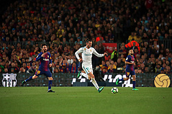 May 6, 2018 - Barcelona, Spain - Gareth Bale and Leo Messi during the match between FC Barcelona and Real Madrid CF, played at the Camp Nou Stadium on 06th May 2018 in Barcelona, Spain.  Photo: Joan Valls/Urbanandsport /NurPhoto. (Credit Image: © Joan Valls/NurPhoto via ZUMA Press)