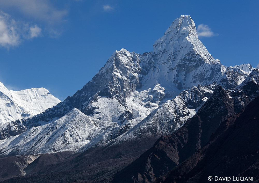 """Ama Dablam (6856m), seen on the way up from Namche Bazar to """"Everest View Hotel""""."""