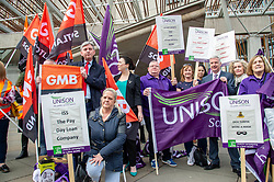 """Pictured: Richard Leonard and Monica Lennon<br /><br />Scottish Labour leader Richard  Leonard and health spokeswoman Monica Lennon joined NHS workers to lobby Parliament to pay Hairmyres hospital staff """"what they are due"""". Ger Harley 