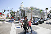 Bijan store and Louis Vuitton store in Beverly Hills