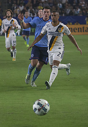 August 12, 2017 - Carson, California, U.S - Pele van Anholt #2 of the Los Angeles Galaxy during their MLS game with the New York FC on Saturday August 12, 2017 at StubHub Center in Carson, California. LA Galaxy loses to New York FC, 2-0. (Credit Image: © Prensa Internacional via ZUMA Wire)