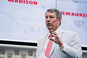 Tom Still from the Wisconsin Technology Council at the Wisconsin Entrepreneurship Conference at Venue 42 in Milwaukee, Wisconsin, Tuesday, June 4, 2019.