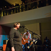 ARLINGTON, VA - April 7th, 2012 -  Pam Berry and Brian Nelson of seminal Washington, D.C. indie-pop band Black Tambourine perform at Artisphere in Arlington, VA.  The band reunited to play their first gigs since 1991 for the 20th anniversary party for Chickfactor Magazine.  (Photo by Kyle Gustafson/For The Washington Post)