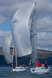 Pelle P Kip Regatta 2019 Day 1<br /> <br /> Light and bright conditions for the opening racing on the Clyde keelboat season<br /> GBR9740R, Sloop John T, Iain & Graham Thomson, CCC, Swan 40