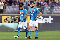 April 29, 2018 - Florence, Florence, Italy - 29th April 2018, Stadio Artemio Franchi, Florence, Italy; Serie A Football, Fiorentina versus Napoli; (L-R) Elseid Hysaj and Lorenzo Tonelli of Napoli leave the pitch dejected after losing their match 3-0 against Fiorentina  Credit: Giampiero Sposito/Pacific Press (Credit Image: © Giampiero Sposito/Pacific Press via ZUMA Wire)