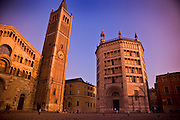 An old cathedral located in an open square in Italy