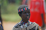 Africa, Ethiopia, Omo region, Ari Tribe woman Photographed at the cattle market