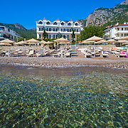 Diplomat hotel beach in Turunc Marmaris, Turkey
