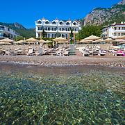 Diplomat hotel beach in Turunc Marmaris, Turkey