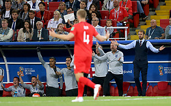 England manager Gareth Southgate (right) reacts on the touchline during the FIFA World Cup 2018, round of 16 match at the Spartak Stadium, Moscow.