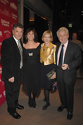 Left to right, DAVID & BARBARA DEIN and BROOK & ANITA LAND at Fast Forward - a fund-raising party for the National Theatre held at The Roundhouse, London NW1 on 1st March 2007.<br /><br />NON EXCLUSIVE - WORLD RIGHTS
