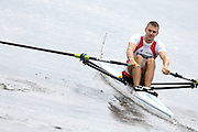 Poznan, POLAND,  CZE M1X, Ondrej SYNEK, moves away from the start, in his morning heat, at the 2008 FISA World Cup. Rowing Regatta. Malta Rowing Course on Friday, 20/06/2008. [Mandatory Credit:  Peter SPURRIER / Intersport Images] Rowing Course:Malta Rowing Course, Poznan, POLAND