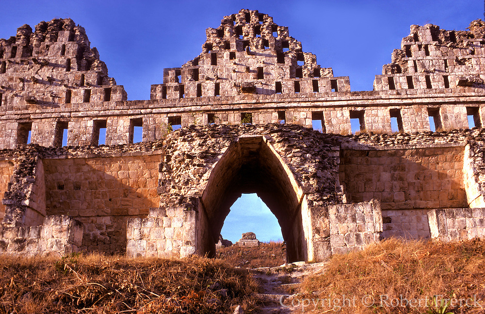 MEXICO, MAYAN CULTURE, YUCATAN Uxmal; Dovecoats (House of the Pigeons)
