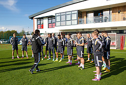 NEWPORT, WALES - Tuesday, October 7, 2014: Wales' manager Chris Coleman and his squad training at Dragon Park National Football Development Centre ahead of the UEFA Euro 2016 qualifying match against Bosnia and Herzegovina. (Pic by David Rawcliffe/Propaganda)