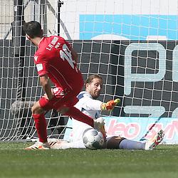 Yunus Malli (1.FC Union Berlin) und Torwart Oliver Baumann (TSG 1899 Hoffenheim)<br /> <br /> Sport: Fussball: Bundesliga: Saison 19/20: TSG 1899 Hoffenheim-1.FC Union Berlin, 20.06.2020.<br /> <br /> Foto: RALF POLLER/AVANTI/POOL/PIX-Sportfotos<br /> <br /> Nur für journalistische Zwecke! Only for editorial use! <br /> Gemäß den Vorgaben der DFL Deutsche Fußball Liga ist es untersagt, in dem Stadion und/oder vom Spiel angefertigte Fotoaufnahmen in Form von Sequenzbildern und/oder videoähnlichen Fotostrecken zu verwerten bzw. verwerten zu lassen. DFL regulations prohibit any use of photographs as image sequences and/or quasi-video.