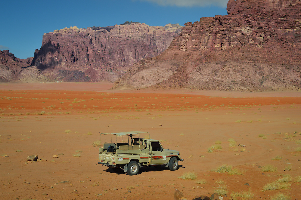In the middle of nowhere Wadi Rum Desert.