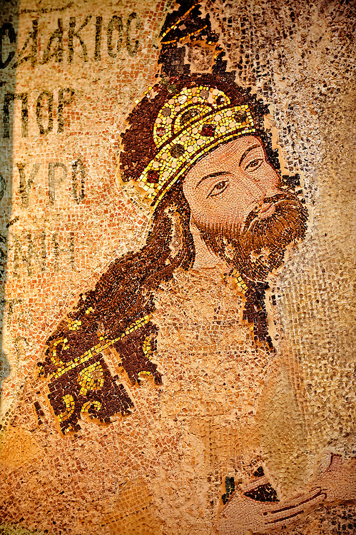 The 11th century Roman Byzantine Church of the Holy Saviour in Chora and its mosaic of Michael Palialogos VIII. Endowed between 1315-1321  by the powerful Byzantine statesman and humanist Theodore Metochites. Kariye Museum, Istanbul .<br /> <br /> If you prefer to buy from our ALAMY PHOTO LIBRARY  Collection visit : https://www.alamy.com/portfolio/paul-williams-funkystock/holy-saviour-chora-istanbul.html<br /> <br /> Visit our TURKEY PHOTO COLLECTIONS for more photos to download or buy as wall art prints https://funkystock.photoshelter.com/gallery-collection/3f-Pictures-of-Turkey-Turkey-Photos-Images-Fotos/C0000U.hJWkZxAbg