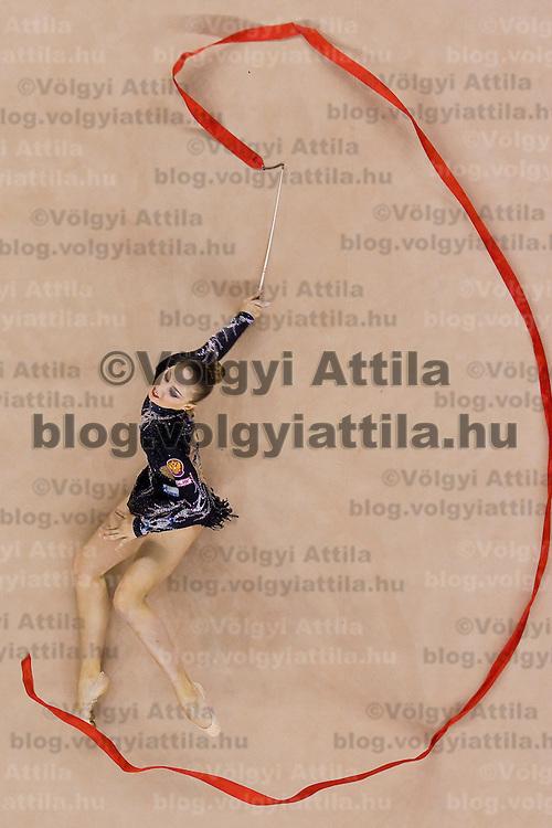 Daria Kondakova (RUS) performs with the ribbon during the final of the 2nd Garantiqa Rythmic Gymnastics World Cup held in Debrecen, Hungary. Sunday, 07. March 2010. ATTILA VOLGYI