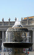 Granite fountain found in Saint Peter's Square in the Vatican City, Italy. The square contains 2 matching granite fountains, constructed by Carlo Maderno around 1613 and Bernini in 1675.