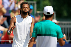 Dustin Brown of Germany shakes hands after defeating Yen-Hsun Lu of Chinese Taipei - Mandatory by-line: Matt McNulty/JMP - 05/06/2016 - TENNIS - Northern Tennis Club - Manchester, United Kingdom - AEGON Manchester Trophy