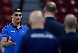 Coach Andrea Giani during volleyball match between National teams of Netherlands and Slovenia in Playoff of 2015 CEV Volleyball European Championship - Men, on October 13, 2015 in Arena Armeec, Sofia, Bulgaria. Photo by Ronald Hoogendoorn / Sportida