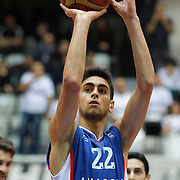 Anadolu Efes's Furkan Korkmaz during their Turkish basketball league match Besiktas integral Forex between Anadolu Efes at BJK Akatlar Arena in Istanbul, Turkey, Monday, January 05, 2015. Photo by TURKPIX
