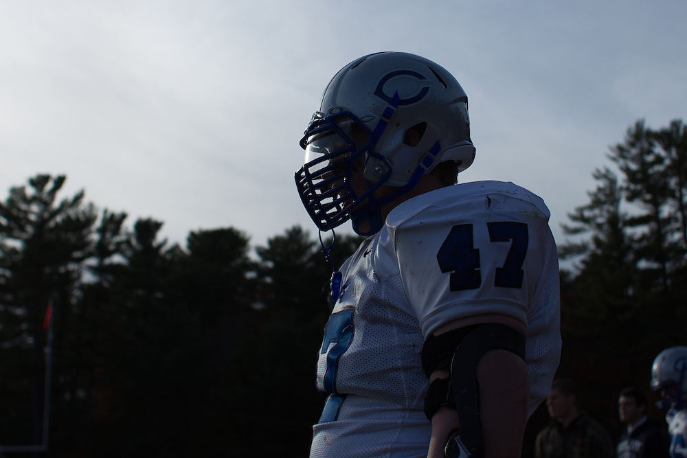 Mike Wincek, of Colby College, during a NCAA Division III football game against Bowdoin College on November 9, 2013 in Waterville, ME. (Dustin Satloff/Colby College Athletics)