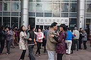 China, Shanghai. Nanjing road east, Street life, People dancing in the street