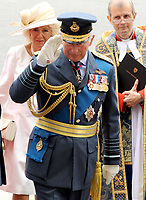 Prince Charles and Camilla, Duchess of Cornwall  at the RAF centenary ceremony held at Westminster Abbey in London, UK on the 10th July 2018