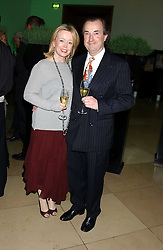 Actress ANGHARAD REES and MR DAVID McALPINE at a dinner hosted by Dom Perignon champagne to celebrate the launch of a new cook book held at the National Portrait Gallery, London on 15th September 2005.<br /><br />NON EXCLUSIVE - WORLD RIGHTS