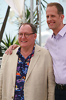 John Lasseter and Director Pete Docter Inside Out film photo call at the 68th Cannes Film Festival Monday May 18th 2015, Cannes, France.