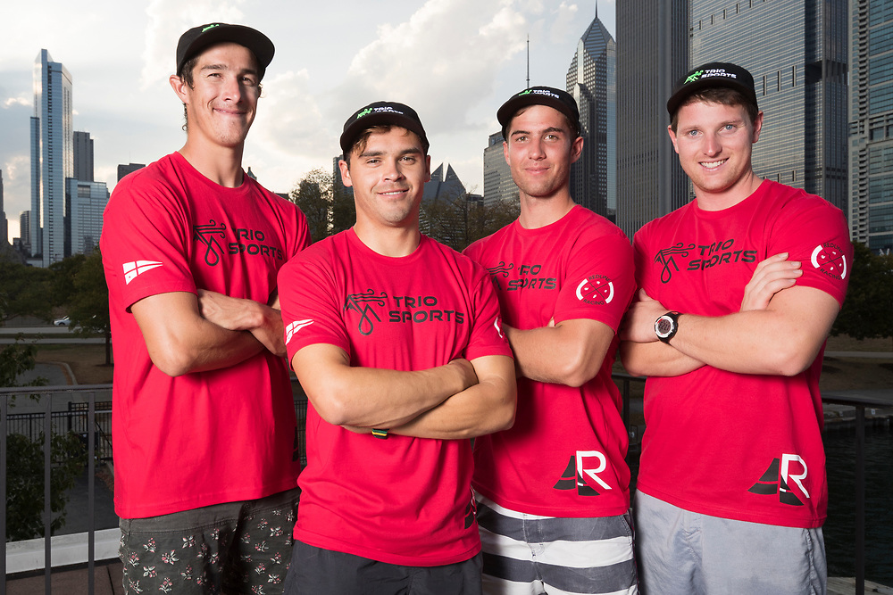 WMRT Chicago Match Cup, Chicago Yacht Club, Chicago, IL. 26th September 2017. Matt Jerwood, and his team Redline Racing.