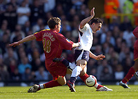 Photo: Olly Greenwood.<br />Tottenham Hotspur v Reading. The Barclays Premiership. 01/04/2007. Reading's Greg Halford tackles Spurs Steed Malbranque