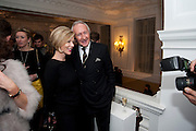 REBECCA CARCELLE; HAROLD TILLMAN, Unveiling of the Dior Christmas Tree by John Galliano at Claridge's. London. 1 December 2009