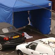 Moord Theo van Gogh Linnaeusstraat Amsterdam, technische recherche, overkapping, laken, lijk, lichaam, afzetting, onderzoek,