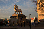 The South Bank Lion in London, England, United Kingdom.