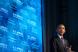 NEW YORK, NEW YORK - SEPTEMBER 21: U.S. President Barack Obama speaks at the U.S.-Africa Business Forum at the Plaza Hotel, September 21, 2016 in New York City. The forum is focused on trade and investment opportunities on the African continent for African heads of government and American business leaders.<br /> Photo by Drew Angerer/Pool/ABACAPRESS.COM