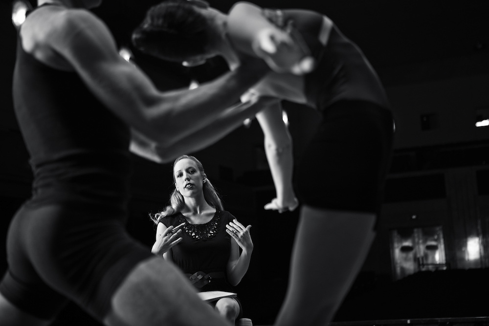 24 January 2012- Erika Overturff with Ballet Nebraska is photographed along with a few dancers at Joslyn Art Museum for Omaha Magazine.
