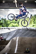 #109 (SURRUGUE Axel) FRA at Round 5 of the 2019 UCI BMX Supercross World Cup in Saint-Quentin-En-Yvelines, France