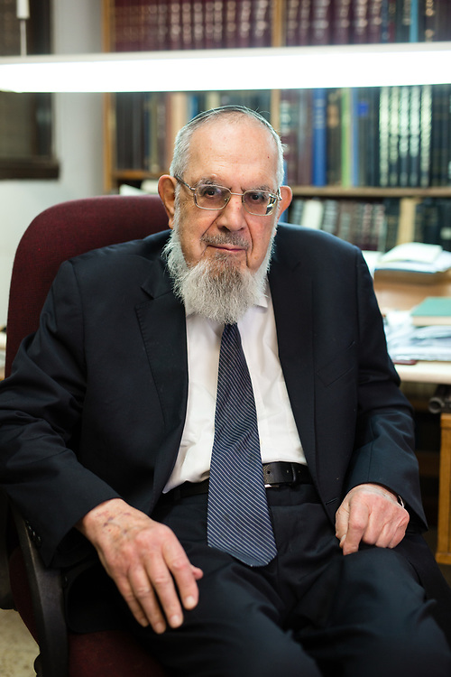 Rabbi Nahum Eliezer Rabinovich, head of the Ma'aleh Adumim Yeshiva, poses for a portrait at his home in the urban Israeli settlement of Ma'ale Adumim, east of Jerusalem, on December 14, 2016.