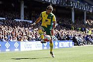 Ivo Pinto of Norwich City controls the ball. Barclays Premier League match, Everton v Norwich City at Goodison Park in Liverpool on Sunday 15th May 2016.<br /> pic by Chris Stading, Andrew Orchard sports photography.
