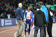 Mo Farah of Great Britain wins the 3000m during the Sainsbury's Anniversary Games at the Queen Elizabeth II Olympic Park, London, United Kingdom on 24 July 2015. Photo by Phil Duncan.