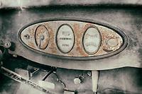 Old car dashboard