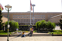 Berlin, Germany. Tempelhof Airport ceased operating in 2008. Famous from the Berlin airlift after WW2.