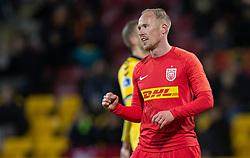 Målscorer Mikkel Rygaard (FC Nordsjælland) jubler efter straffesparkscoringen til 3-0 under kampen i 3F Superligaen mellem FC Nordsjælland og AC Horsens den 19. februar 2020 i Right to Dream Park, Farum (Foto: Claus Birch).