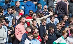 Falkirk fans before the start.<br /> Hibernian 0 v 1 Falkirk, William Hill Scottish Cup semi-final, played 18/4/2015 at Hamden Park, Glasgow.