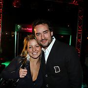 NLD/Blaricum/20081109 - Benefietavond de Frogers voor de Voedselbank, dj Jeroen Nieuwenhuizen en partner
